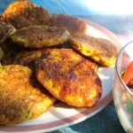Sweet Corn and Capsicum Omelette Pikelets