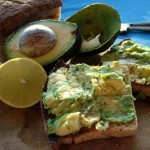 Avocado and Lime Juice on Toast