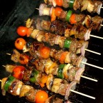 Summer Kangaroo Kebabs in Green Paw Paw Marinade