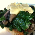 The Breakfast Challenge – Lemony Mushrooms and Spinach with 2 Minute Hollandaise