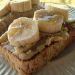 Banana Macadamia Butter on Oat Toast