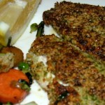 Parsley and Oat Crusted Mullet