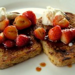 The Breakfast Challenge – French Toast with Honey Balsamic Glazed Strawberries