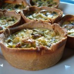 Leek Tartlets With Olive Oil Pastry
