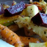 Roast Winter Root Veg With Caper Mayo