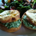 Yorkshire Puddings With Silverbeet and Feta Filling