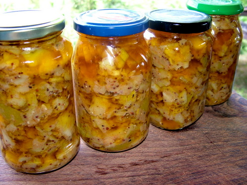 Indian green mango pickles