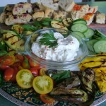 Chargrilled Vegetables with Garlic Yoghurt Dip