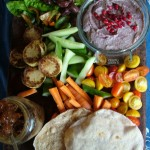 Smoky Eggplant and Pomegranate Dip