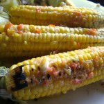Barbecued Sweet Corn with Chili Lime Dressing