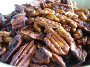spiced pecans with orange