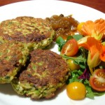 Zucchini and Haloumi Patties