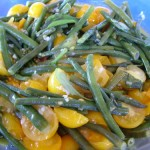 Snake Bean and Tomato Salad