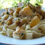 Creamy Pumpkin and Macadamia Pasta