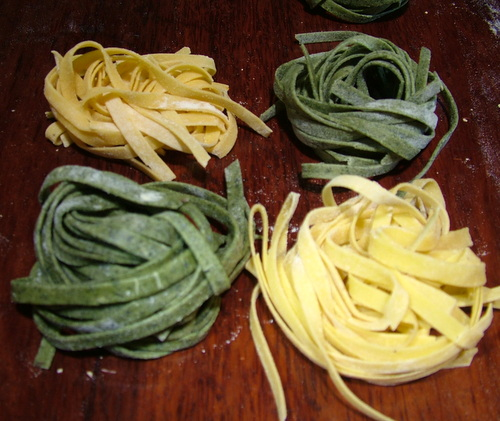 spinach and pumpkin pasta for freezing