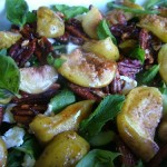 Roast Fig, Pecan and Feta Salad