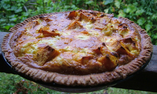 roast pumpkin and feta pie